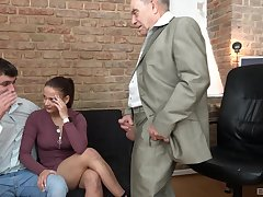 Counterfoil a blowjob horny milf got will not hear of tight pussy fucked by will not hear of old friend