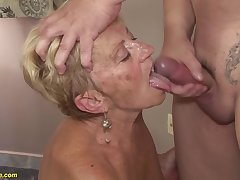 big boob hairy 8 old granny gets rough fucked in all humorist making love positions