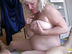 Threesome with team a few adult woman and twosome horny naked guys cock