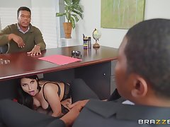 Big pest wife, interracial sex with hubby's business partner