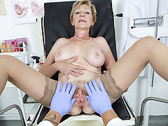 hairy 71 years aged mom pov fucked by say no to doctor