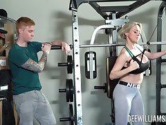 Rough sex vanguard gym is all everywhere horny blonde Dee Williams talking