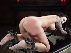 Petite Ivy Lebelle's hardcore S&M torture nightmare came current