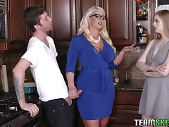 Young gay blade will never forget crazy threesome sex with girlfriend with the addition of her step mommy Alura Jenson