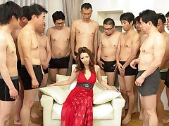 Nagisa Kazami in Nagisa Kazami is fucked hard by so many cocks in a gangbang - AvidolZ