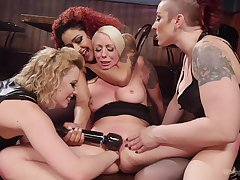 MILFs hold to toys in both their wet holes during a rough XXX