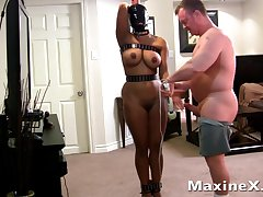 big-busted submissive mom in bondage fucked by her master - bdsm