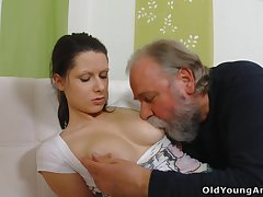 Inauspicious young gal Irene is seduced by buxom gaffer who wanna fuck their way