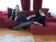 Blonde milf best in foot job part4