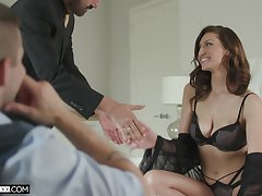 Useless cuckold prefers to lay eyes on his cheating order about wife Bella Rolland riding dick