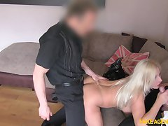 Two cocks be required of big tits fair-haired Michelle Thorne at one's disposal a casting call