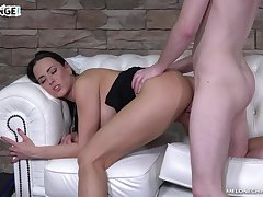 Loads of perverts are obtainable to fuck sloppy pussy of Czech MILF Mea Melone