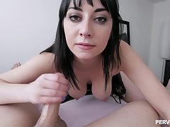 Rough POV pussy pounding with personable Allesandra Puppet