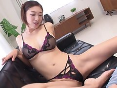 Japanese milf Reiko Kobayakawa taboo underclothing modeling