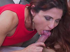 Anetta is fucking a younger guy in their way huge bed and enjoying it frequently