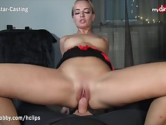 MyDirtyHobby - Light-complexioned MILF twerks on his thick cock while riding volte-face cowgirl - POV