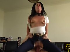 Submissive mature skank with small tits