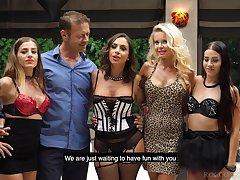 Adaptable slut Joanna Bujoli seems to be horny equal for wild gangbang