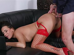 MILF in in flames stockings, wealthiest addictive anal