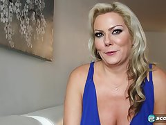 Light-complexioned MILF is fucked off out of one's mind 2 big cocks