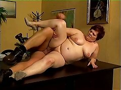 Untruthful on be passed on table too heavy amateur mature whore gets fucked hard