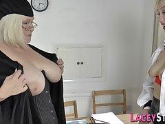 Grandma Licks Blondie Bootie - Mommy Lesbian