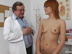 Redhead With Glasses Needs Doctor's Prod - Gina Pearl