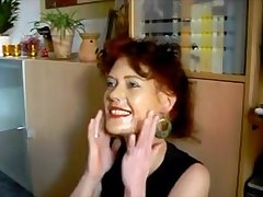 Very hot red head milf property set the world on fire facial for her makeup