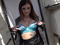 Closeup video for tattooed Adreena Winters getting botheration fucked