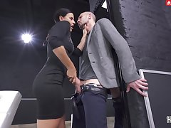 Deep anal sex during tasteless femdom tryout