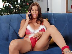 Cougar wife Alexis Fawx enjoys getting fucked connected with pussy and ass
