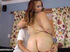 Chunky lassie Sophia Jordan constant porn clip