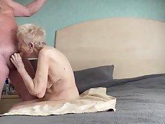 Spectacular thankful older grannie