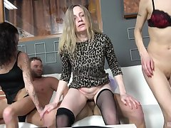 Pic be proper of hellacious group sex with dirty matures Marketa and Monika