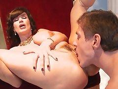 Goddess of sex fucks with big dick stud exposed to say no to stool