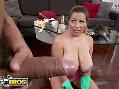 BANGBROS - Bruno Dickemz Fucking His Busty Housekeeper Alesandra - Bruno dickemz