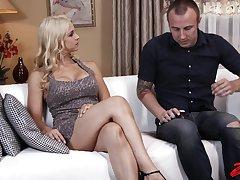 Passionate bonking with versatile Sara Vandella ends with a creampie