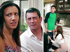 Super-Naughty Mommy bottomless gulf throating enormous man sausage of daughter-in-law's BEAU