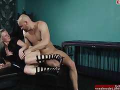 Rich Tow-haired Milf Meets Young Fucker For Sex In Hobby Cellar