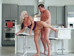 Big bore mature mom fucked hard on every side the kitchen