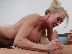 Mature loves a young cock to operate her magic again