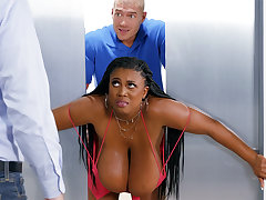 Become popular huge-chested black screwed stiff by custodian
