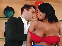 Strong interracial encounter with Dominique Marley