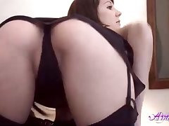 Handsome honey is wearing dark-hued, glamour tights and making a pornography flick, just for joy