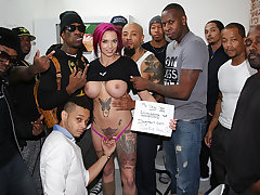 Glance at Anna Bell Peaks, sitting in a preview booth at 1 of those adult bookshops, toying with herself as her vag trickles a dark-hued fellow's jizm. She just ended deep throating off a random BIG BLACK COCK for Bi-Racial BlowBang's sis website, Gloryho