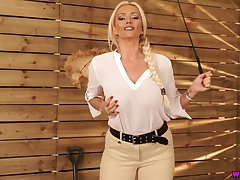 Sexy nicely shaped English nympho Lucy Zara exposes her succulent boobs