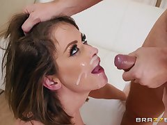 Nerdy baffle pounds and gives a cumshot to Emily Addison