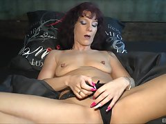horny milf Samy Saint prepares her cunt for a friend's hard and sticky dick